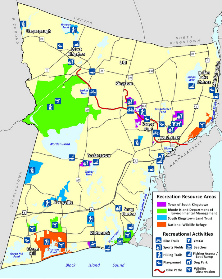South Kingstown Facilities Map
